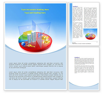 Business Pie Chart Word Template, 08089, Financial/Accounting — PoweredTemplate.com