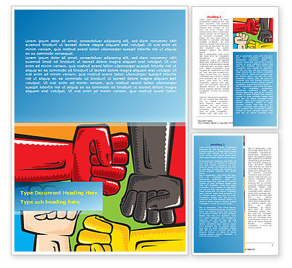 Fists Together Word Template, 08090, Religious/Spiritual — PoweredTemplate.com