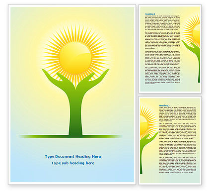 Religious/Spiritual: Sun Light Word Template #08094