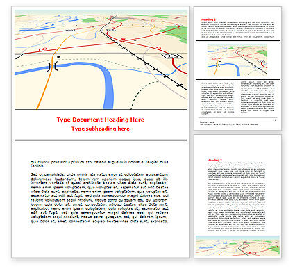 Careers/Industry: Road Map Word Template #08109