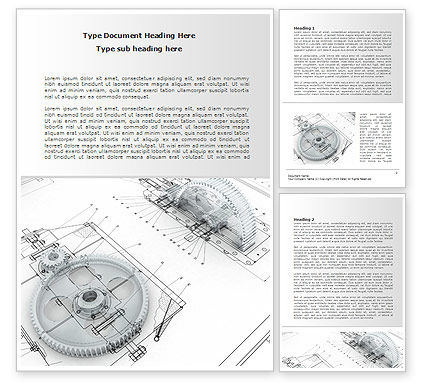 Engineering Drawing Word Template, 08114, Construction — PoweredTemplate.com