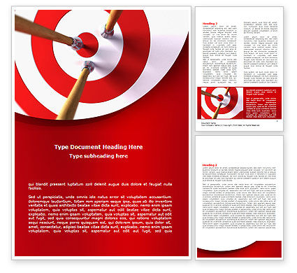 Business Concepts: Plantilla de Word - blanco rojo #08116
