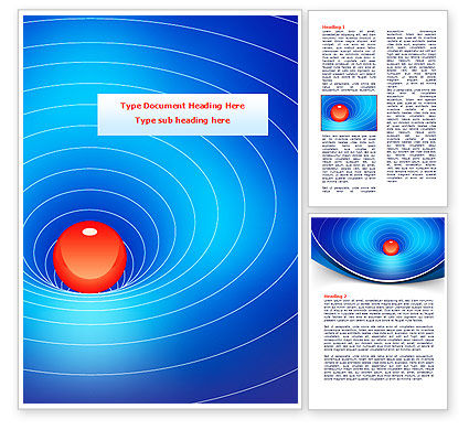 Space-Time Distortion Word Template, 08119, Education & Training — PoweredTemplate.com