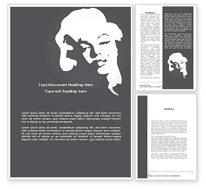 Marilyn Monroe Word Template, 08142, People — PoweredTemplate.com