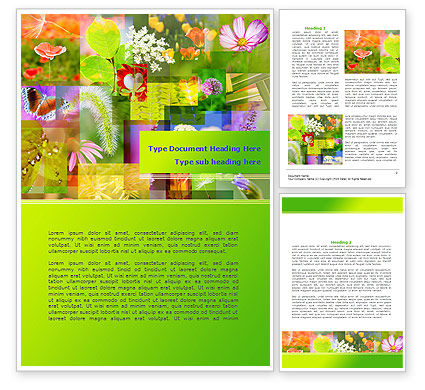 Flower Varieties Word Template