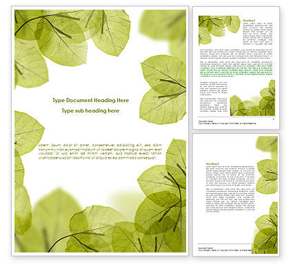 Lucid Leaves Word Template