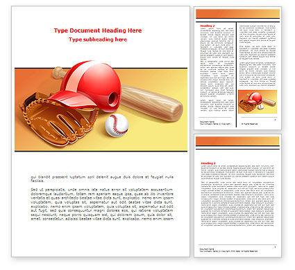 Baseball Bat Word Template, 08149, Sports — PoweredTemplate.com