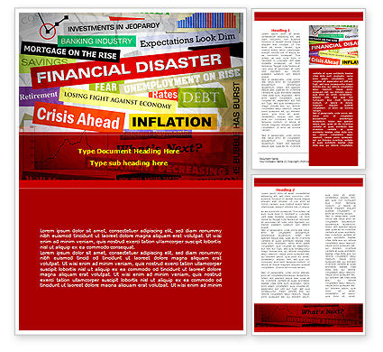 Financial Disaster Word Template, 08154, Financial/Accounting — PoweredTemplate.com