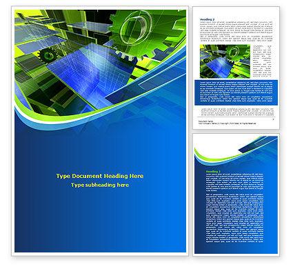 Mechanic Industry Word Template, 08155, Utilities/Industrial — PoweredTemplate.com
