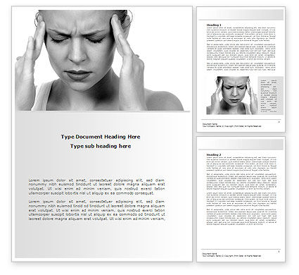 Medical: Migraine Word Template #08158