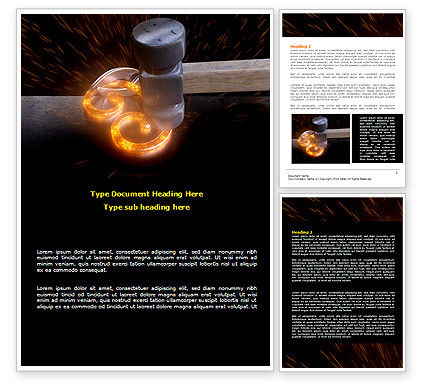Forging Word Template, 08159, Careers/Industry — PoweredTemplate.com