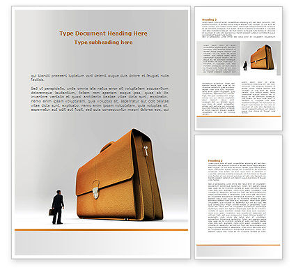 Briefcase Word Template, 08160, Business — PoweredTemplate.com