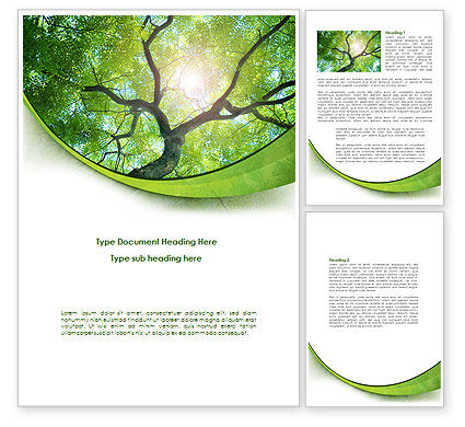 Nature & Environment: Modello Word - Parte superiore dell'albero #08163