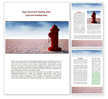 Water Pump Word Template, 08164, Careers/Industry — PoweredTemplate.com