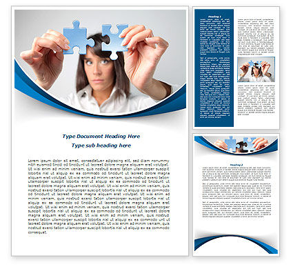 Folding Puzzle Word Template, 08168, Consulting — PoweredTemplate.com