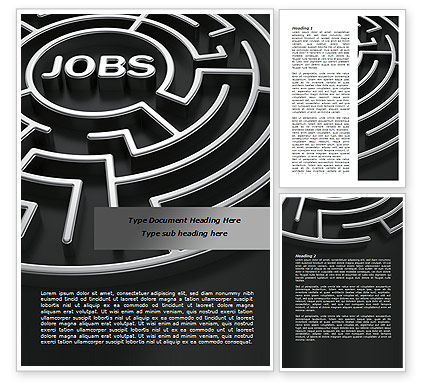 Careers/Industry: Employment Labyrinth Word Template #08169