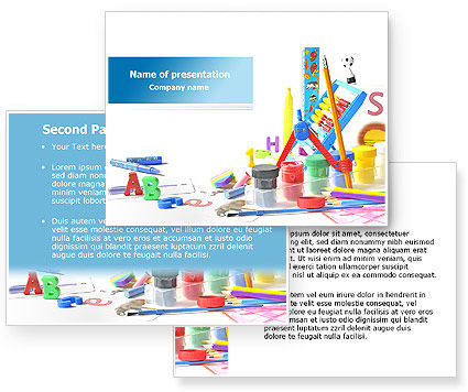 powerpoint templates for kids. Kids Stationery PowerPoint
