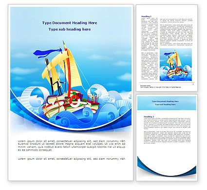 Business: Stationery Ship Word Template #08172