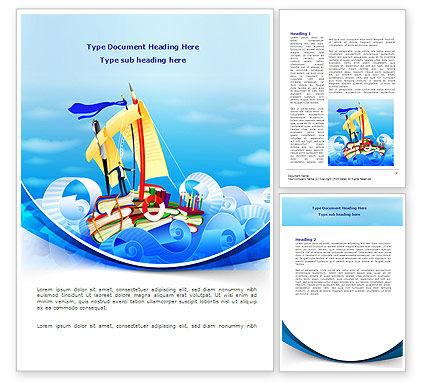 Stationery Ship Word Template, 08172, Business — PoweredTemplate.com