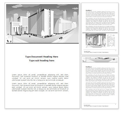 Construction: City Architecture Word Template #08176