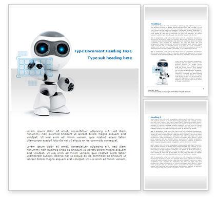 Robot Model Word Template, 08181, Technology, Science & Computers — PoweredTemplate.com