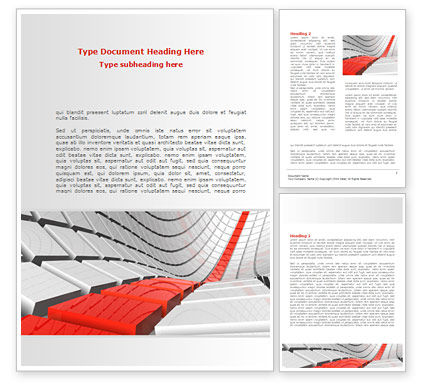 Business Concepts: Keyboard Red Line Word Template #08183
