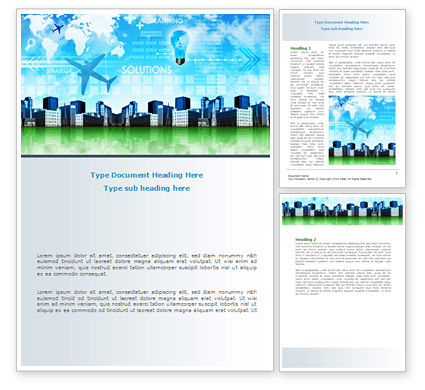 Trans International Services Word Template, 08187, Consulting — PoweredTemplate.com