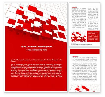 Surface Fragments Word Template, 08193, Business — PoweredTemplate.com