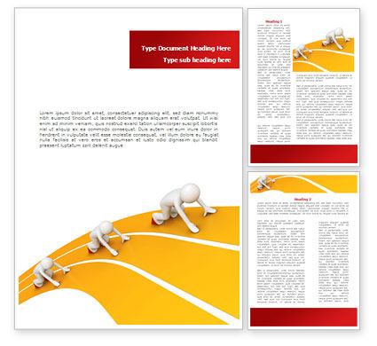 Sprint Runners Word Template, 08194, Education & Training — PoweredTemplate.com