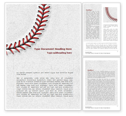 Baseball stitching word template 08205 for Baseball brochure template