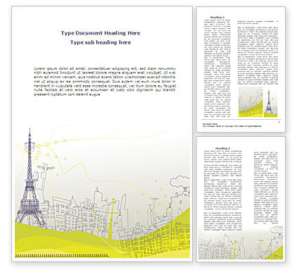 Construction: Paris Illustration Word Template #08211
