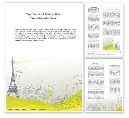 Paris Illustration Word Template, 08211, Construction — PoweredTemplate.com