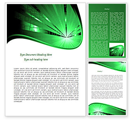 Green Light Word Template, 08212, Technology, Science & Computers — PoweredTemplate.com