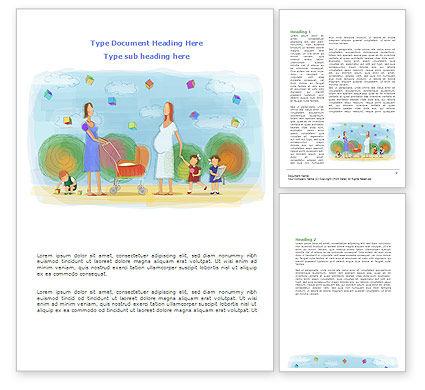 Mothers Word Template, 08217, Education & Training — PoweredTemplate.com