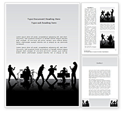Careers/Industry: Music Band Word Template #08218