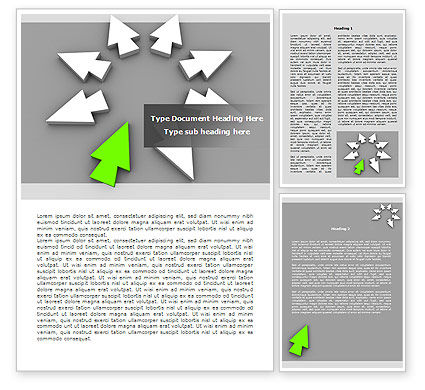 In and Out Word Template, 08221, Consulting — PoweredTemplate.com