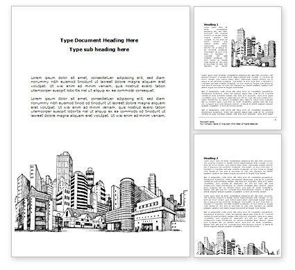 Construction: Modelo do Word - esboço da arquitetura da cidade #08228