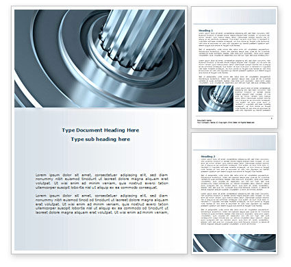 Gear Shaft Word Template, 08229, Utilities/Industrial — PoweredTemplate.com