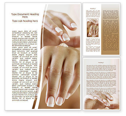 Hand Cream Word Template, 08230, Careers/Industry — PoweredTemplate.com