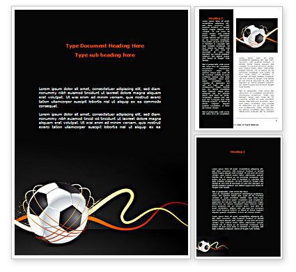 Football Championships Word Template, 08231, Sports — PoweredTemplate.com