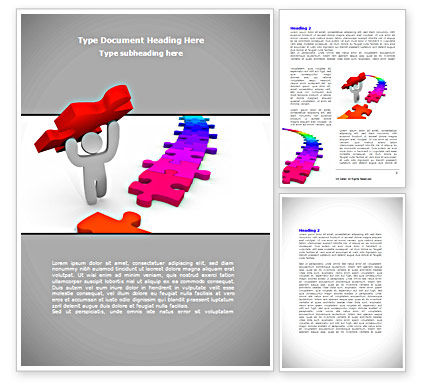 Jigsaw Path Finishing Word Template, 08238, Consulting — PoweredTemplate.com