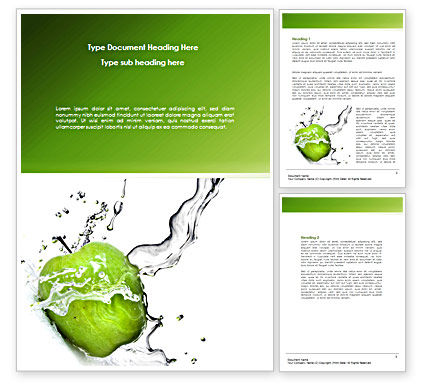Careers/Industry: Clean Apple Word Template #08244