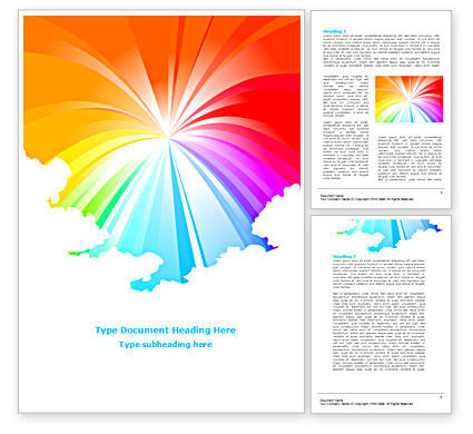 Rainbow Word Template, 08247, Religious/Spiritual — PoweredTemplate.com