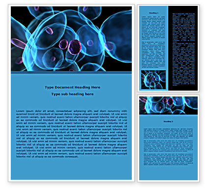 Technology, Science & Computers: Stem Cells Word Template #08249