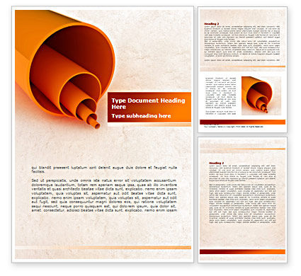 Plastic Pipes Word Template, 08262, Utilities/Industrial — PoweredTemplate.com