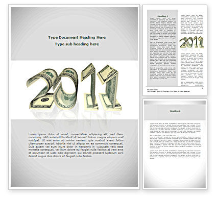 Financial Year 2011 Word Template, 08268, Financial/Accounting — PoweredTemplate.com