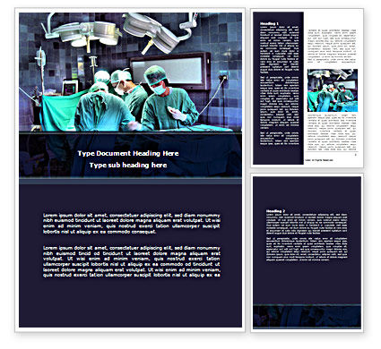 Medical: Surgical Procedure Word Template #08272