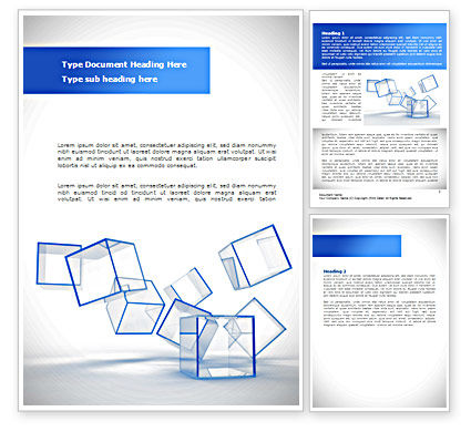 Business: Glass Cubes Word Template #08276