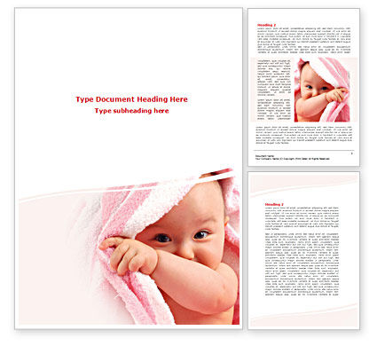 People: Little Baby Happy Face Word Template #08279