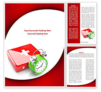 Medical: Medical Emergency Word Template #08280